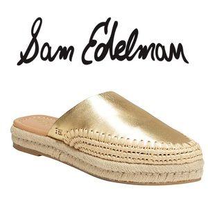 Sam Edelman Austin Gold Metallic Leather Sandal ✨